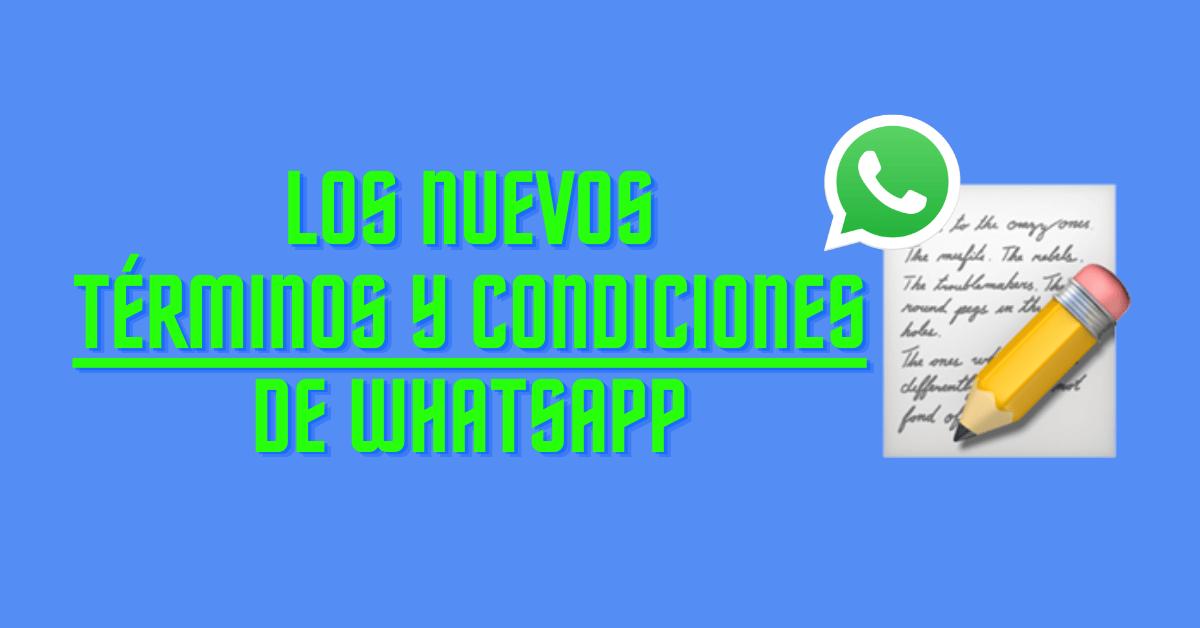 terminos y condiciones de whatsapp