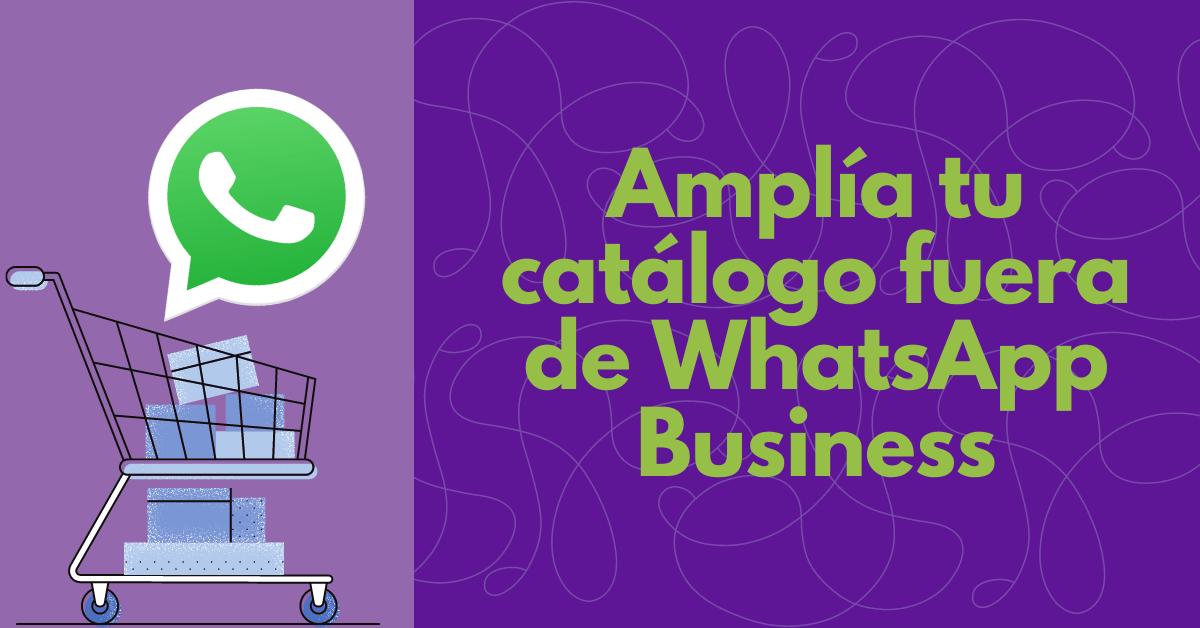 Amplía tu catálogo fuera de WhatsApp Business